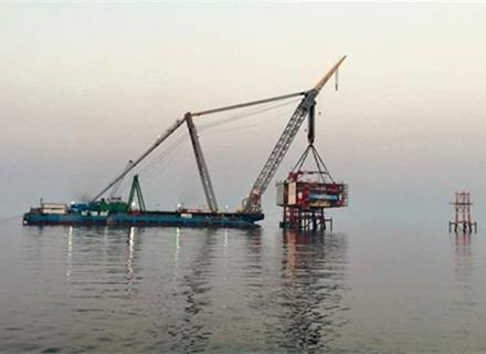 First offshore Platform of SP 22 to 24 Installed