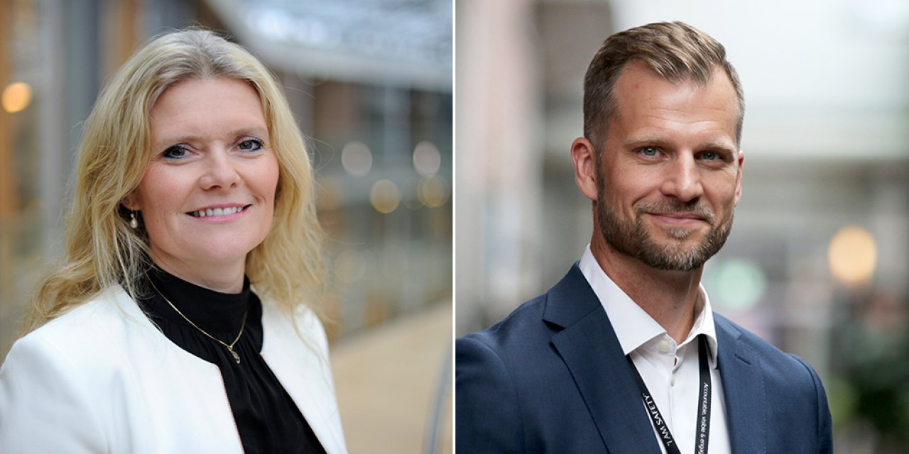 Peggy Krantz-Underland (left), Equinor's chief procurement officer, and Erik Gustav Kirkemo, senior vice president for drilling & well.