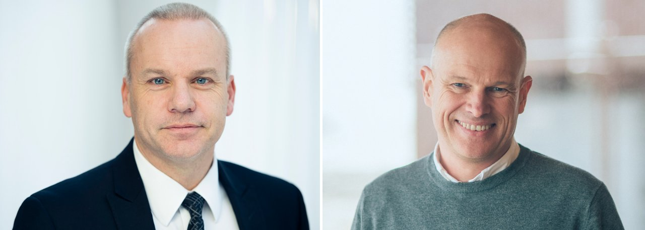 Anders Opedal (left), executive vice president for Technology, projects & drilling, and Arne Sigve Nylund, executive vice president for Development & production Norway. (Photos: Ole Jørgen Bratland / Equinor ASA)