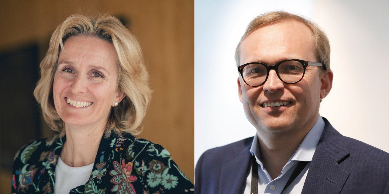 Irene Rummelhoff (left), Equinor's executive vice president for Marketing, Midstream and Processing (MMP) and Kjetil Johnsen, vice president for the shipping, ship technology and vetting unit.