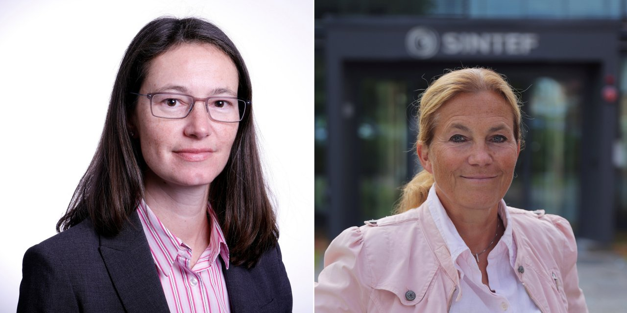 Sophie Hildebrand (left), senior vice president of Research and Technology at Equinor andAlexandra Bech Gjørv, president and CEO of SINTEF.